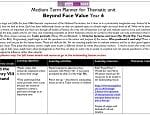 Medium Term Planner for Thematic unit Beyond Face Value Year 6